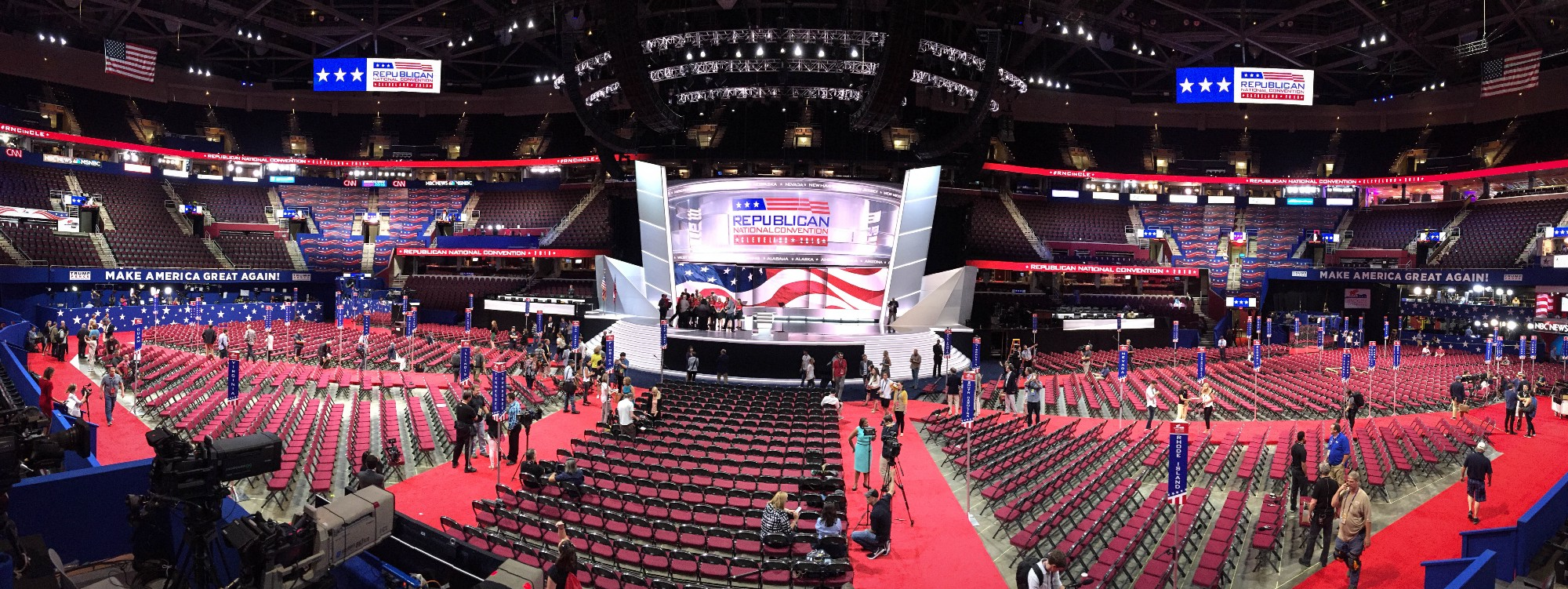 Cleveland Gets Ready To Rock The RNC: Day Zero in Pictures