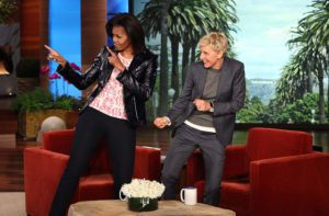 Ellen Degeneres and Michelle Obama.