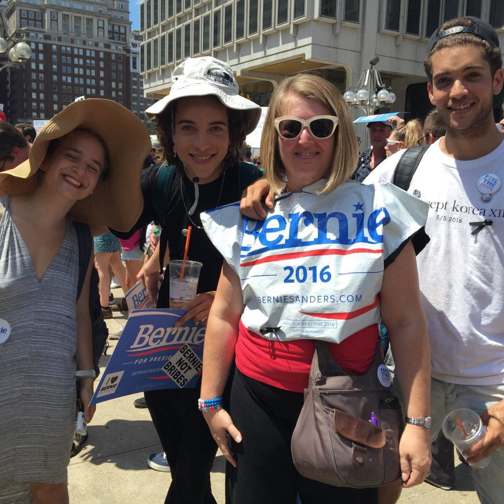 Left to right: Anthony White, 25, Mary Steinberg, Kyle White, 21