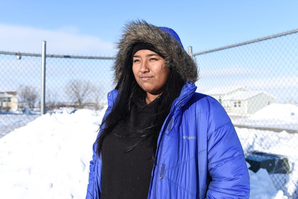 Khannie Saengphachanh, 18, an Ogogla Lakota from Ogogla, North Dakota is one of the Water Protectors at Standing Rock, ND. Photo: Avery White.