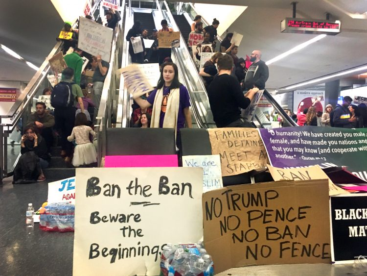 At SFO, Hundreds Gather To Protest Trump's Immigration Order