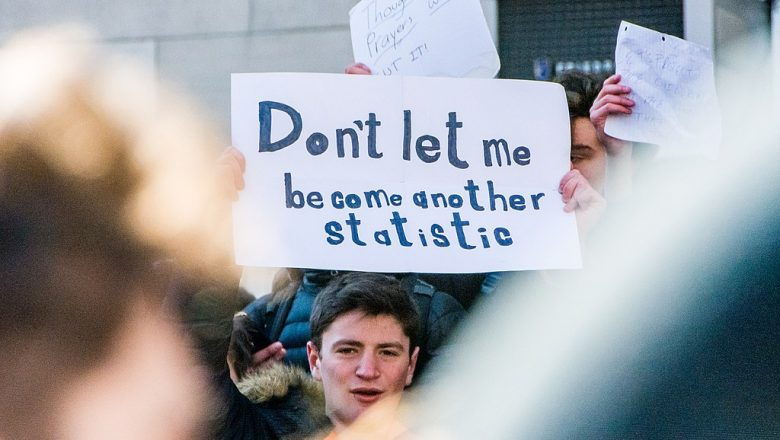 don't let me become another statistic school walkout sign santa fe high school shooting