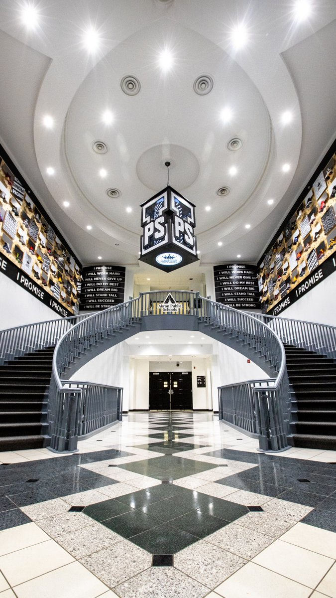 The I Promise School in Akron, Ohio's signature staircase.