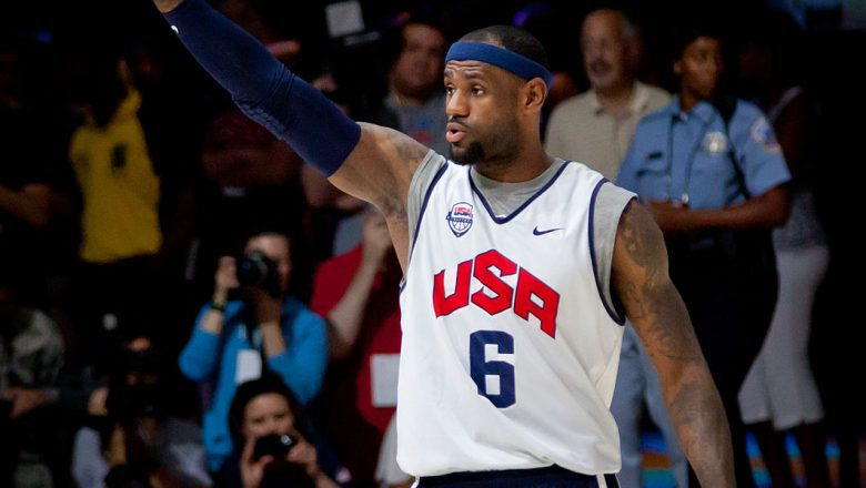 LeBron James team USA jersey
