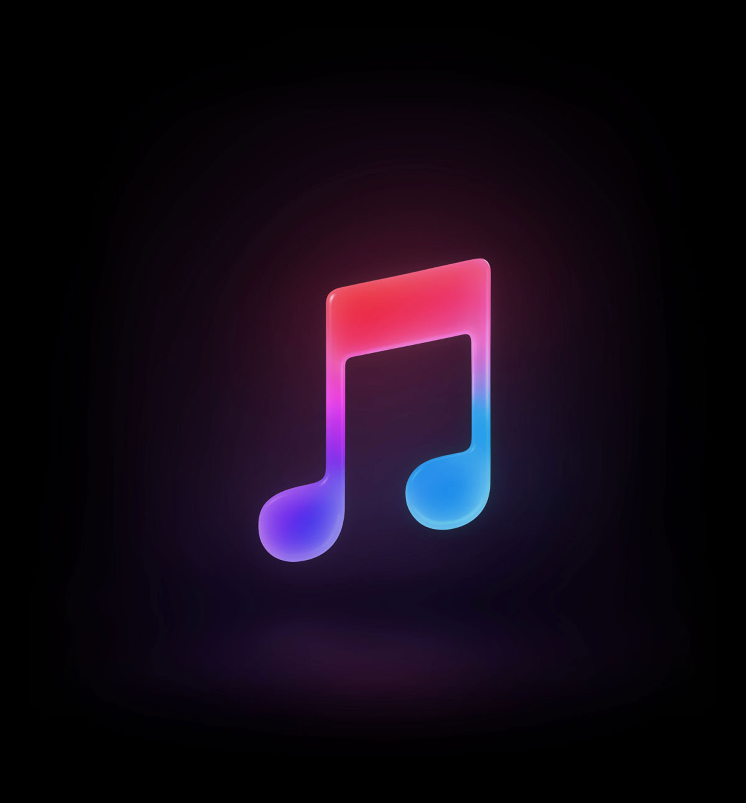 The Apple Music logo.