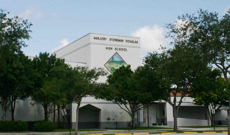Marjory Stoneman High School in Parkland, Florida