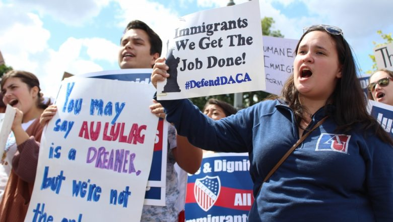 American University students protesting DACA