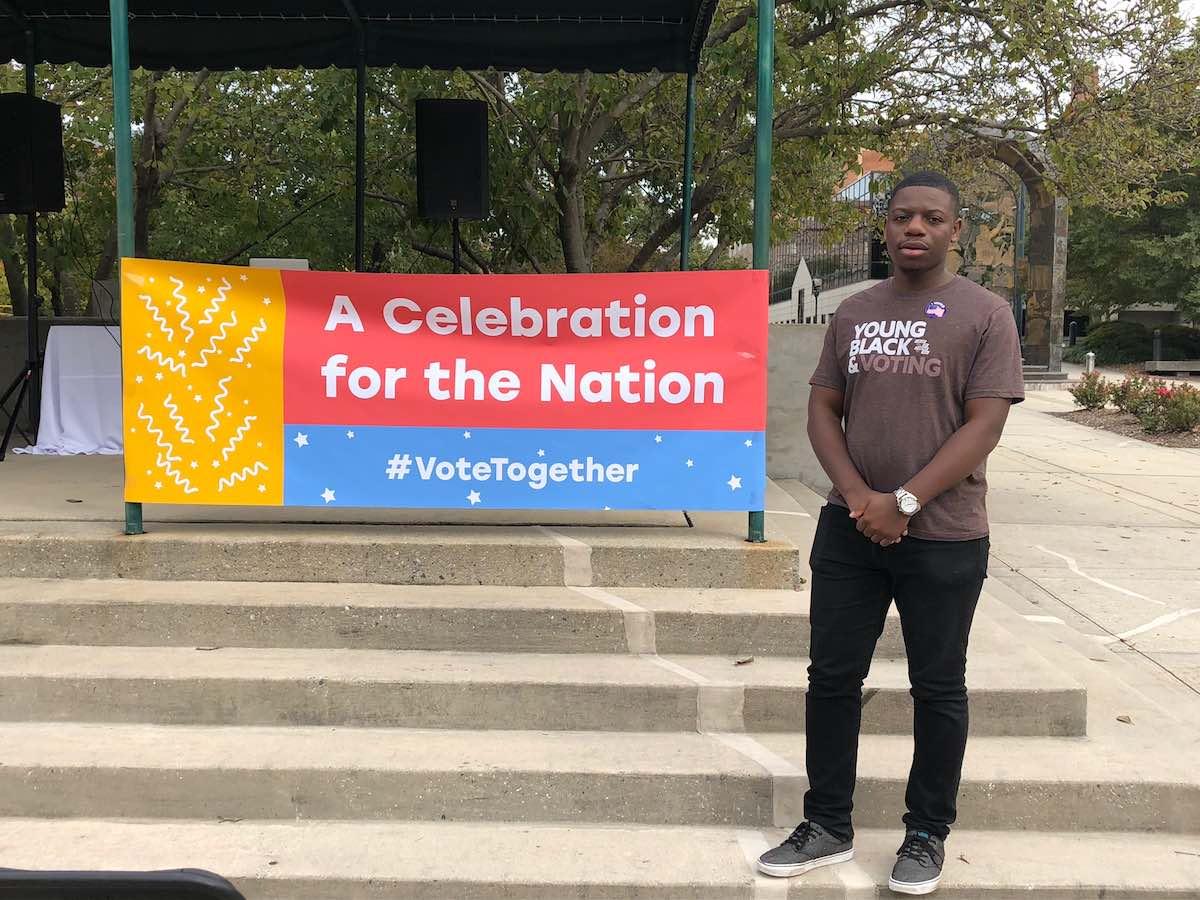 Braxton Brewington is a student voting activist at North Carolina A&T. (Photo credit: Kamaya Truitt)
