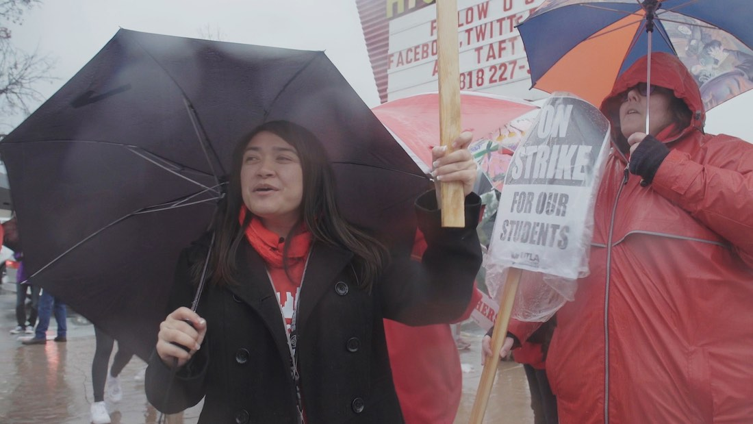 What It's Like to Be on the Picket Line with an LA Teacher