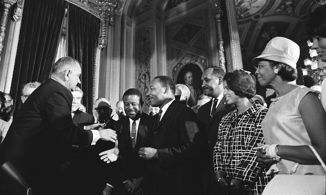 MLK with LBJ