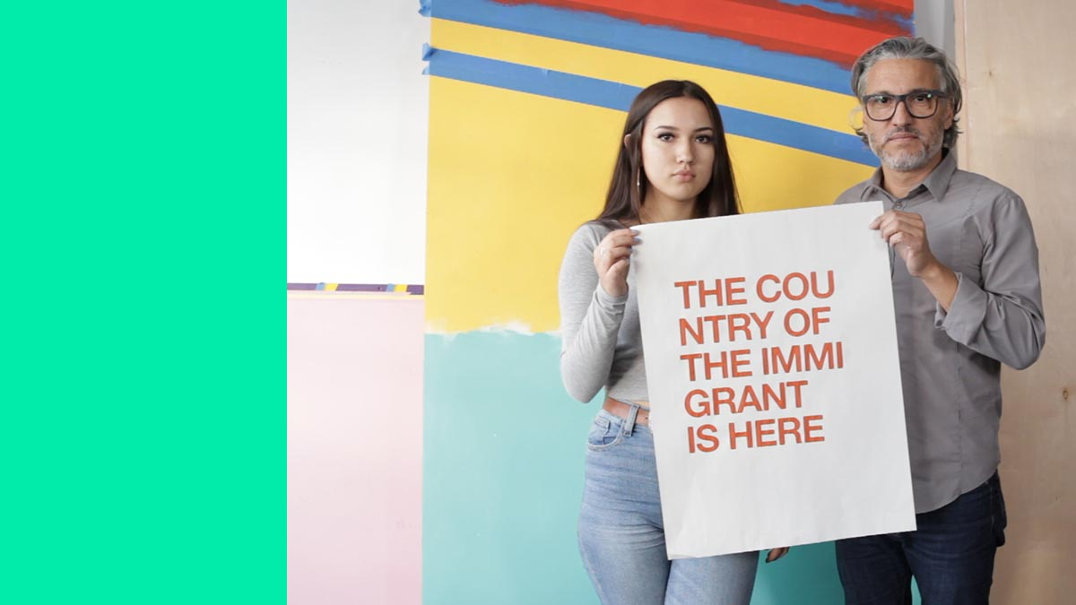 Her Dad Makes Art About Immigration, Borders and Sanctuary Cities