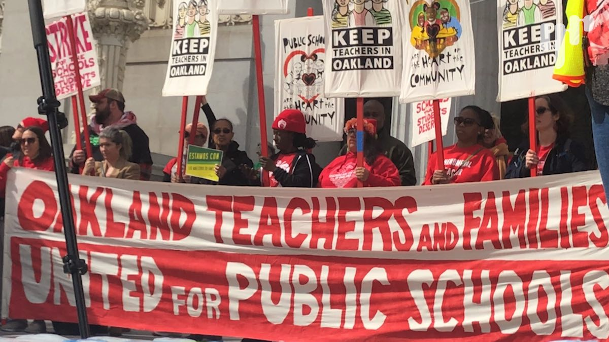Striking Teachers Aren't Being Paid. How Do They Make It Work?
