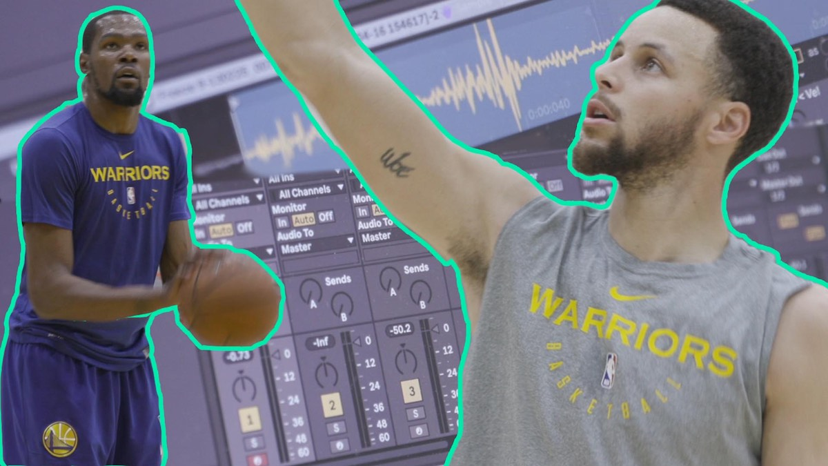 Making Beats at the Warriors' Practice Using Found Sounds Ep 6