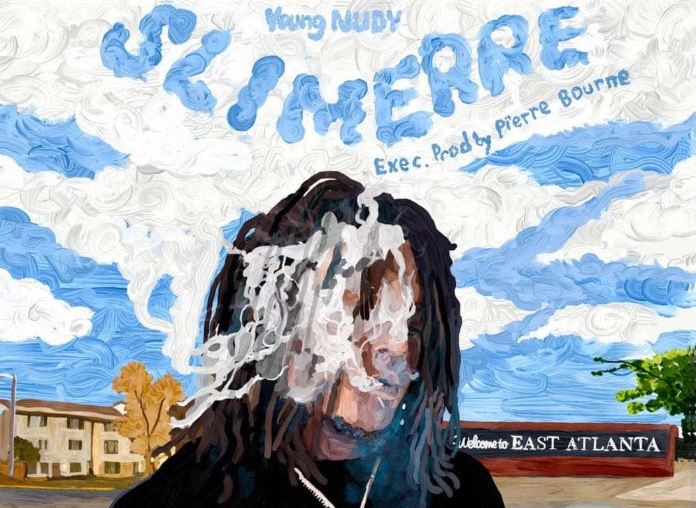 Young Nudy smoking for album cover Sli'merre