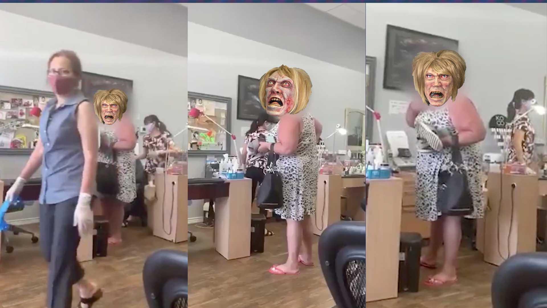 COVID Karen Gets a Mask