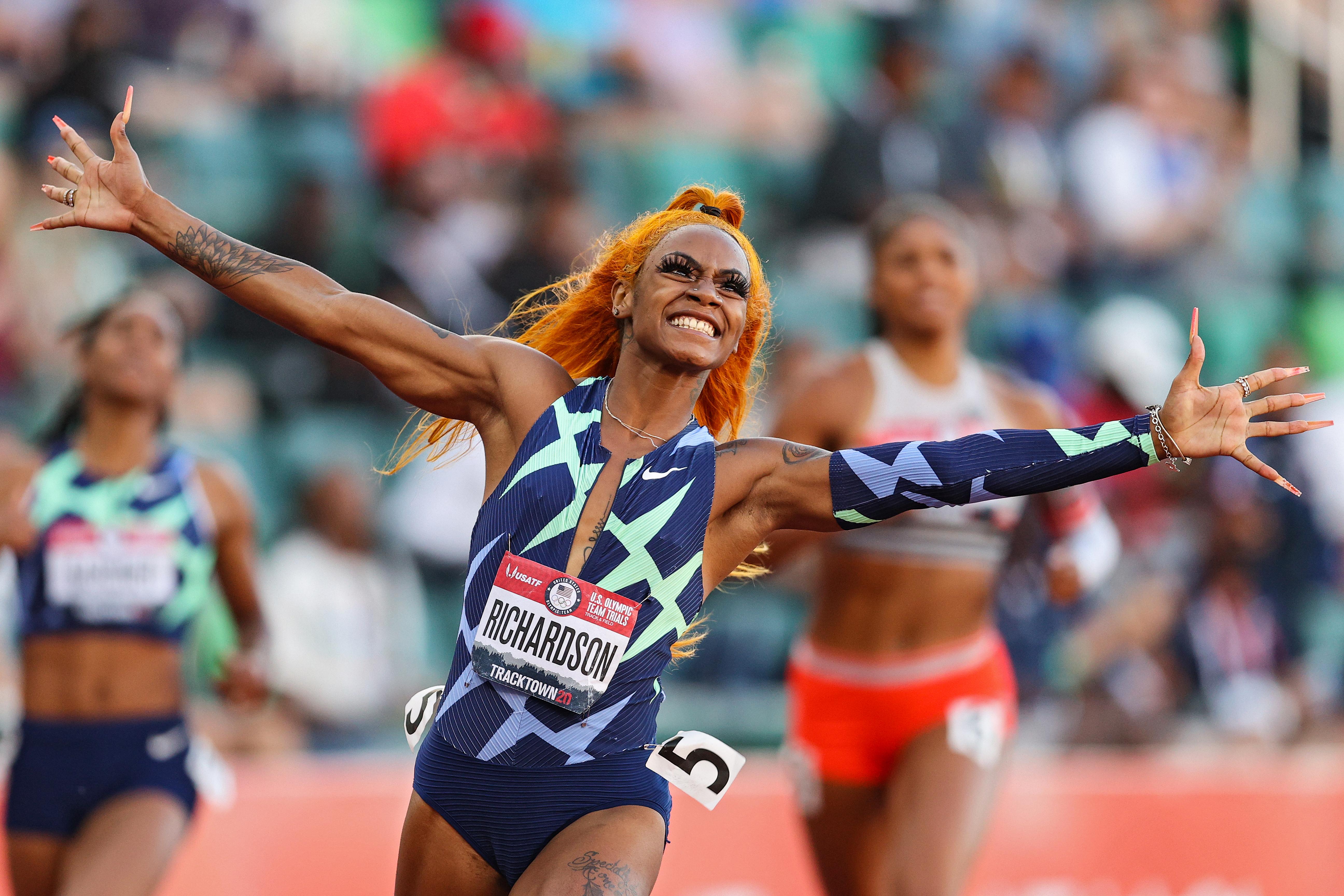 Sha'Carri Richardson: 'That Girl' Talks Hair, Family Inspo Amid Run for Olympics