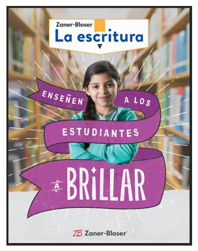 Zaner-Bloser La escritura Ensenen A Los Estudiantes a Brillar. Zaner-Blose book cover.