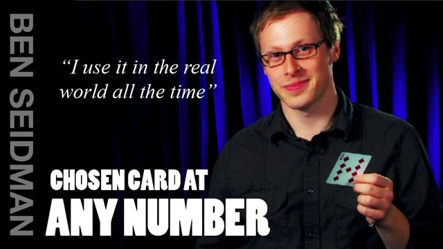 Chosen Card at Any Number with Ben Seidman HD Instant Download