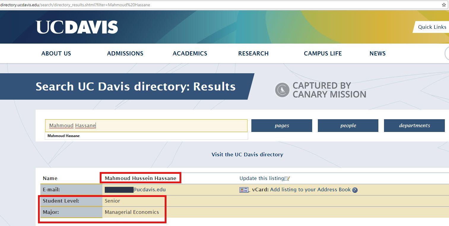 uc davis directory