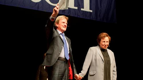 Bernard Kouchner and Shirin Ebadi
