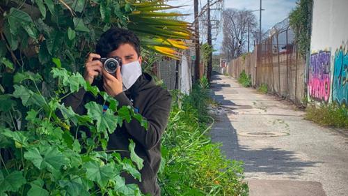 Alex Medina '22 reporting in East LA