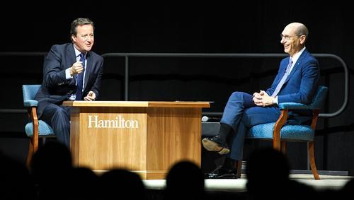 Former U.K. Prime Minister David Cameron Speaks at Hamilton