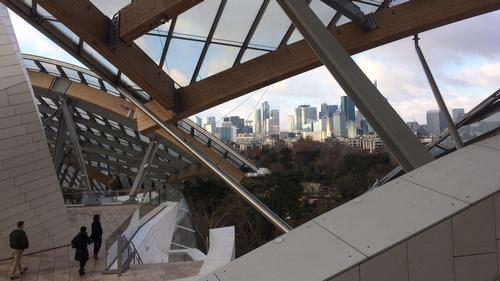 View from Fondation Louis Vuitton