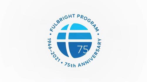 Fulbright 75 yr logo