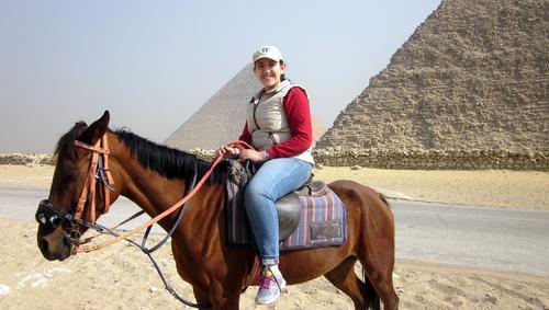 Ghada Emish '19 in Egypt
