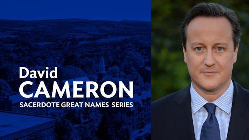 Former U.K. Prime Minister David Cameron is Next Great Names Speaker