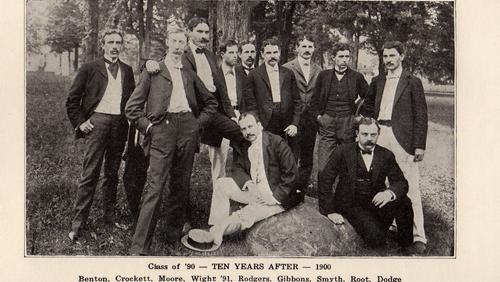 Class of 1890 at their 10th reunion