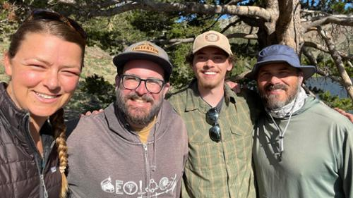 From left to right: Laura Levy, Joe Carlin, Luke Zaelke '22, Matt Kirby '93.