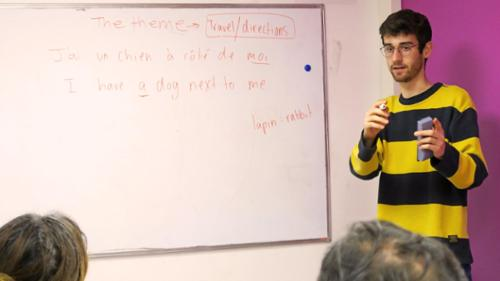 Eli Marris's internship at a social center