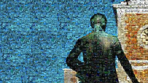 Alexander Hamilton mosaic