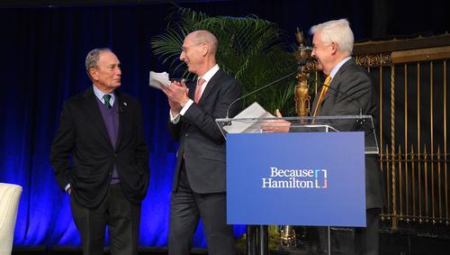 Hamilton Confers Honorary Degree on Michael Bloomberg