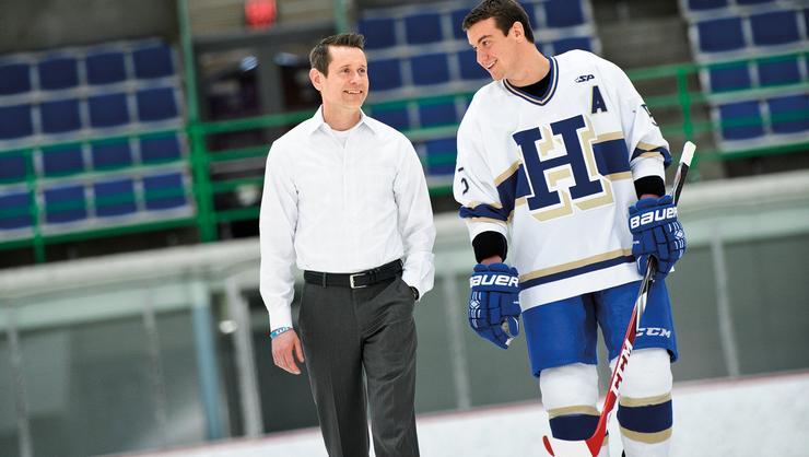 Bennett Hambrook '17 with coach Rob Haberbusch
