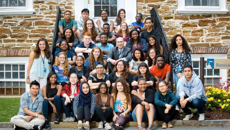 Opportunity Program students with David Wippman
