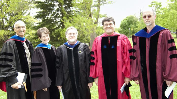 Frank Anechiarico '71, Tina Hall, Peter Rabinowitz, Peter Cannavo and Thomas Wilson.