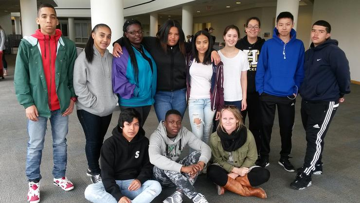UASEM and Hamilton students worked together on the Communication Department's Privacy Project.