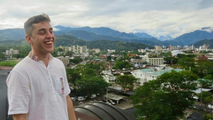 Henry Shuldiner '19 in Colombia.
