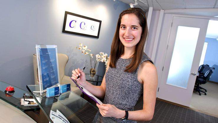 Natalie Adams '17 at Curley Company