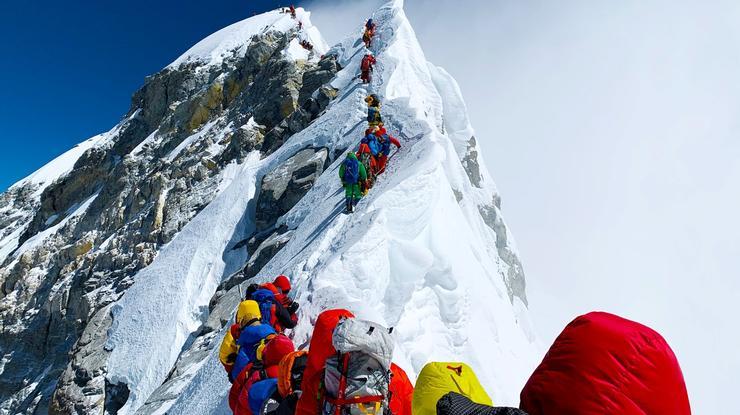 Taylor Adams '11 on Mount Everest