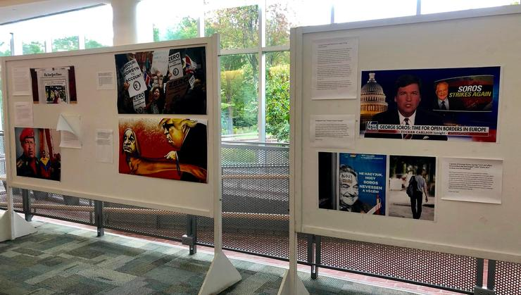 The Contemporary Anti-Semitism Exhibit in the KJ Atrium will be on display through Sept.13.