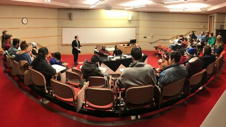 Professor of Art Rebecca Murtaugh moderated a panel discussion on