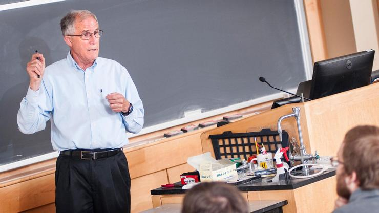 David H. Bailey met with Hamilton classes before his evening lecture.