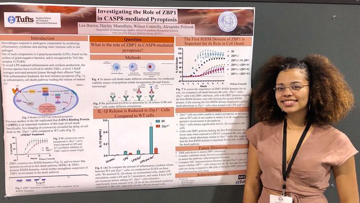 Lea Barros '22 at the Annual Biomedical Research Conference for Minority Students, where she received a Presentation Award.