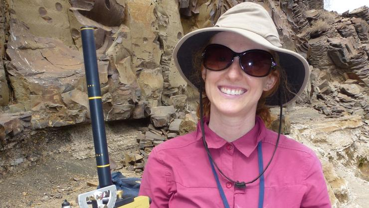Assistant Professor of Geosciences Catherine Beck in Kenya