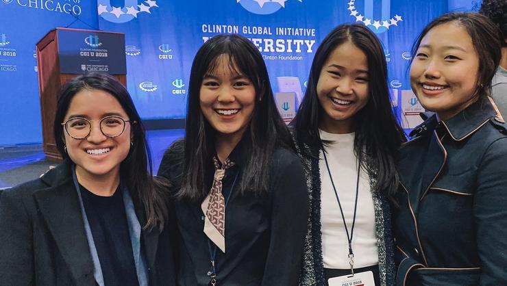 From left: Tiffany Ly, Jiaheng Cai, Ngoc Ngo, and Hyein Kim.