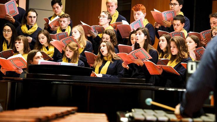The Hamilton College choir.