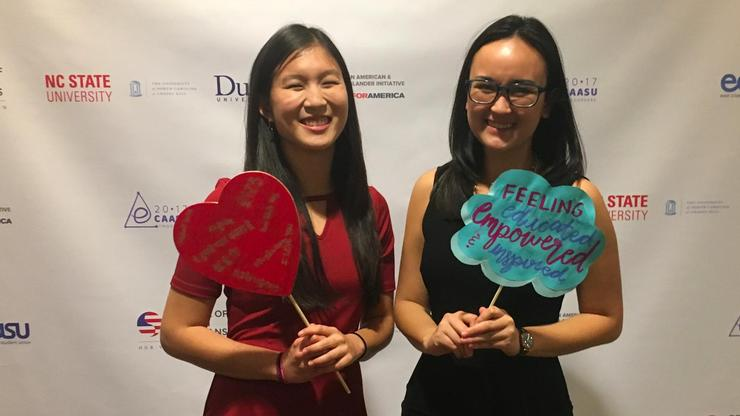 Molly Clark '19 and Gillian Mak '18 at the East Coast Asian American Student Union Conference.